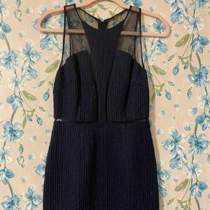 Sachin Babi sheer sheath dress blue black